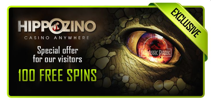 100 Free Spins on Jurassic Park slot at Hippozino Casino! http://bit.ly/1pDim8V