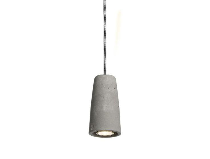Phari Concrete Pendant Light 100 cm Cable Lenght by URBI ET ORBI