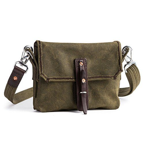 Mountainback Small Waxed Canvas Gear Bag by Saddleback Leather  Small Canvas and Leather Bag