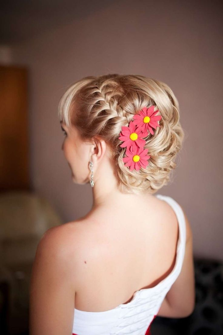 Braided wedding hairstyle for short hair :: one1lady.com :: #hair #hairs #hairstyle #hairstyles