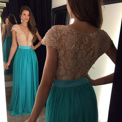 V-Neck Lace A-Line Prom Dresses,Long Prom Dresses,Cheap Prom Dresses, Evening Dress Prom Gowns, Formal Women Dress,Prom Dress