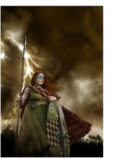 Cartimandua.This Celtic queen of Brigantes was in power from 43 AD to 69 AD. She was regent of the Brigantes during the time of the Catuvellauni King Caratacus.