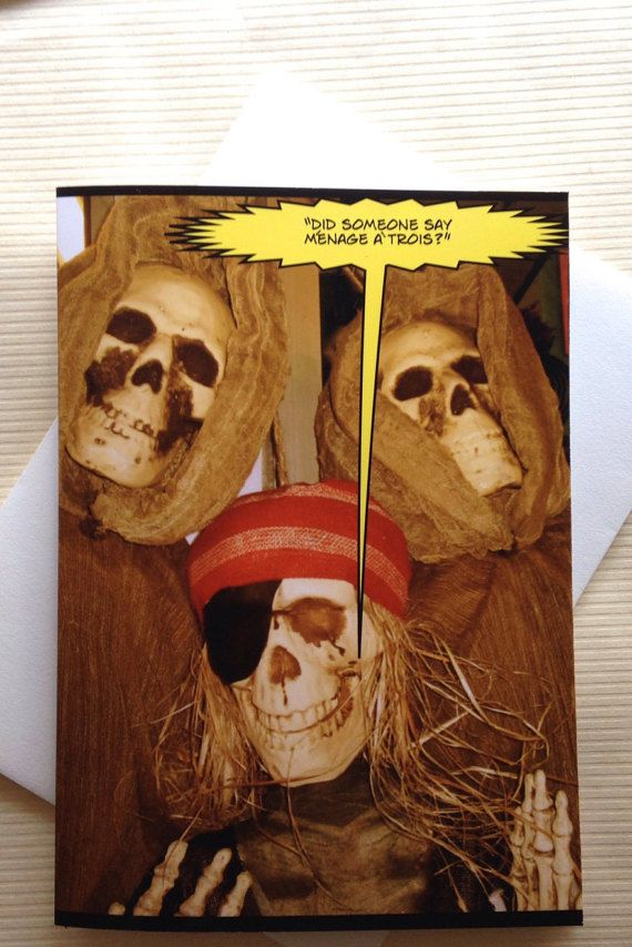 funny halloween card funny skeleton card adult by smartblondes - What To Say In A Halloween Card