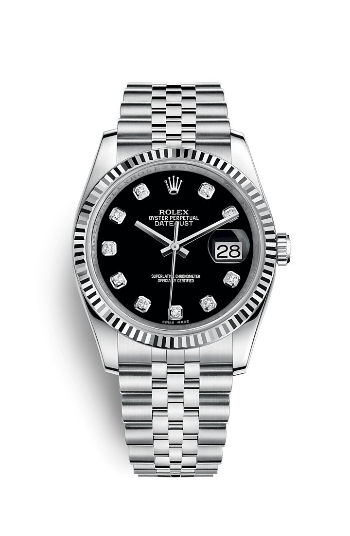 Discover the Datejust 36 watch in White Rolesor - combination of 904L steel and 18 ct white gold on the Official Rolex Website. Model: 116234