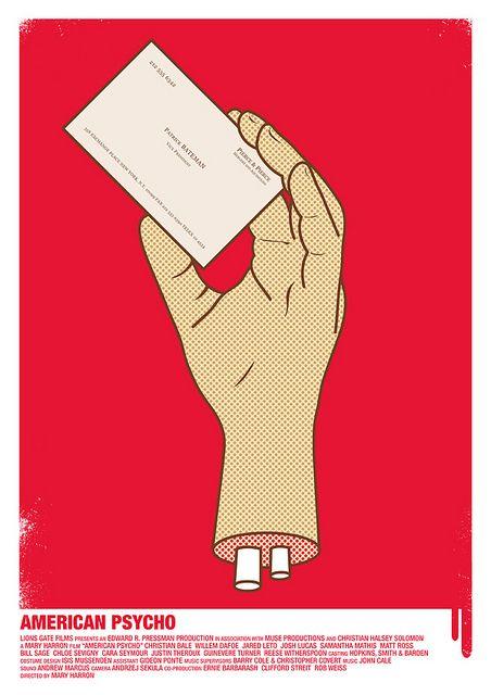 American Psycho minimalist movie poster
