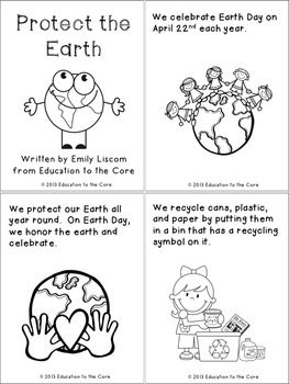 Protect the Earth: An Earth Day Mini-Book (Freebie)