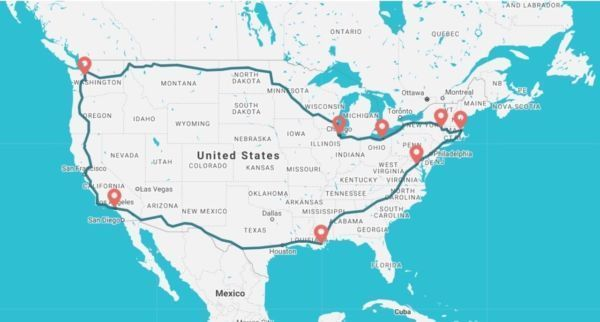 Loop From Boston To California And Back On The Ultimate Us Train Trip In 2020 Cross Country Train Trip Train Travel Trip
