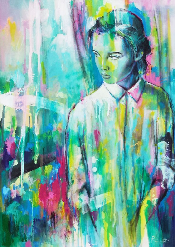 "Davide Ricchetti ""At window"" acrilic on canvas, 2015"
