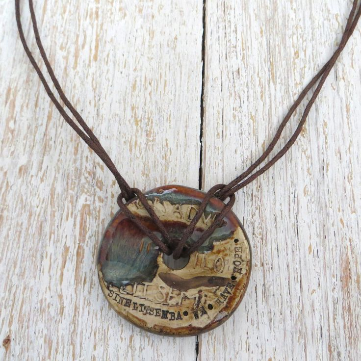 Pottery We Have Hope Pendant Necklace