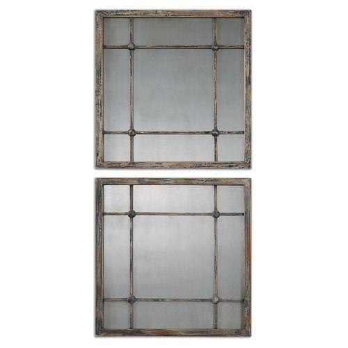 Uttermost Saragano Square Mirrors Set of 2 at Destination Lighting