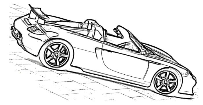 Porsche Carrera GT Techart Car Coloring Page (With images