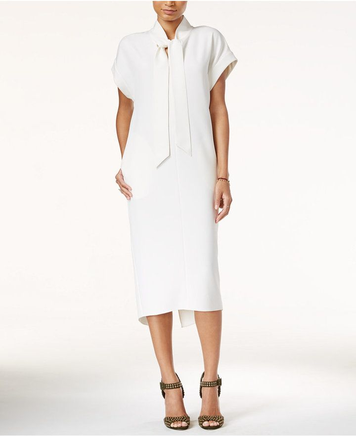 RACHEL Rachel Roy Tie-Neck Midi Dress