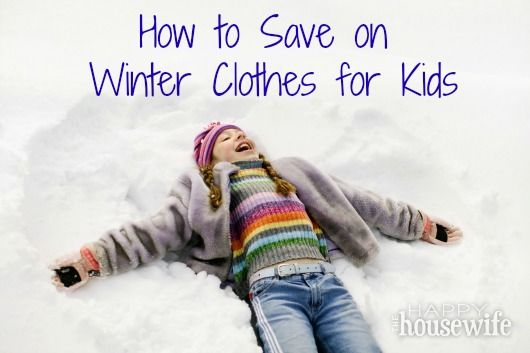 How to Save on Winter Clothes for Kids | The Happy Housewife