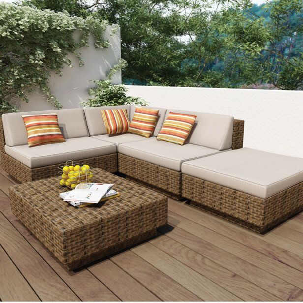 25 Awesome Modern Brown All Weather Outdoor Patio Sectionals Outdoor Sofa Sets Conversation Set Patio Patio Sectional