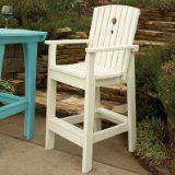 Uwharrie Chair Company Companion Collection Tall Dining Chair - Poly - Caribbean Blue