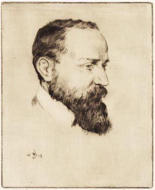 Milan Rastislav Štefánik (1880-1919) was a Slovak born astronomer; art-connoisseur,  general, politician and diplomat  and was one of the founders of Czechoslovakia.  He befriended with the artist T.F. Šimon (1877-1942), who did this portrait) and  financially supported the young artist during his early career in Paris.