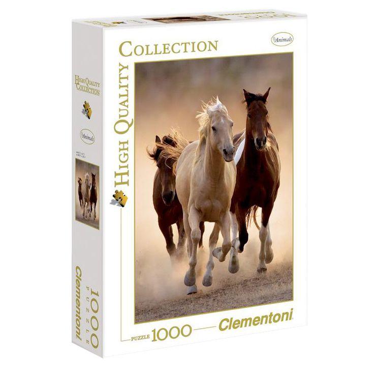 Пазл бегущие лошади clementoni