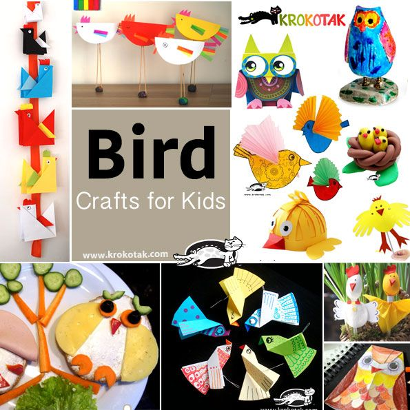 Bird crafts for kidas
