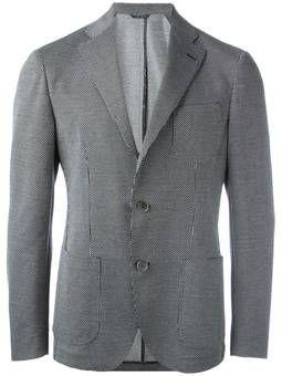 patterned blazer