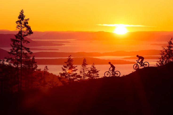 Fall sunset over Bellingham Bay