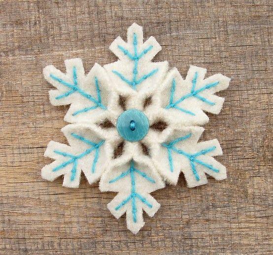 felt snowflakes