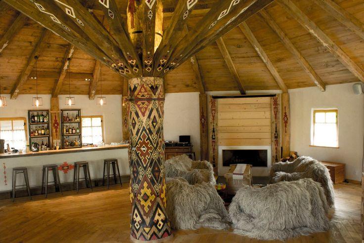 Raven's Nest, the Hidden Village in Transylvania.  Vatra Zmeilor, the remote restaurant in the heart of Transylvania #restaurant #transylvania #tasty #guesthouses #romania #wildlife #authenticdesign #traditionaldesign