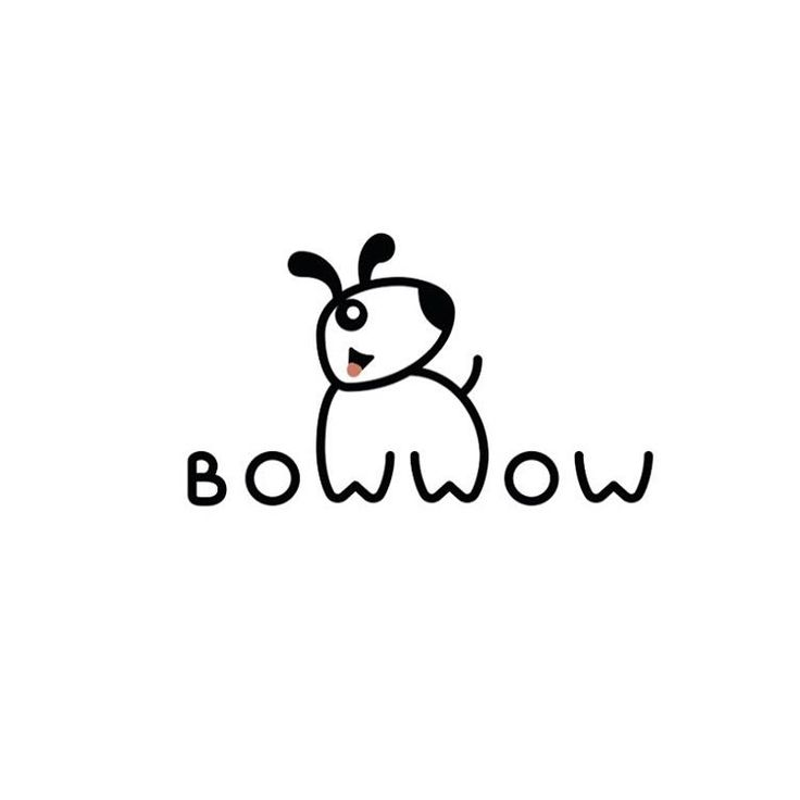 "A Logo i created for a pet store in USA – ""Bow Wow"".  #logo #logotype…"