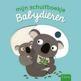 uitgeverij clavis mijn schuifboekje babydieren 1442676 | ilovespeelgoed.nl