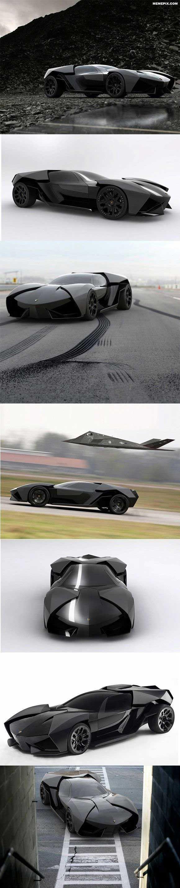Lamborghini Ankonian Concept. Esto no ha salido en producción porque Bruce Wayne compró los derechos del coche para hacerlo su nuevo Batmovil
