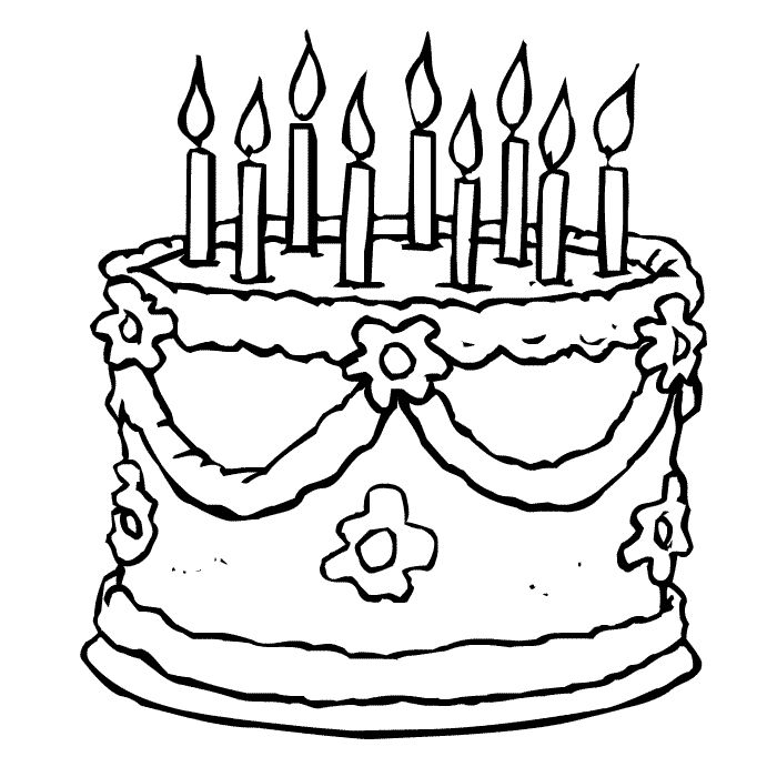 cake coloring pages google search