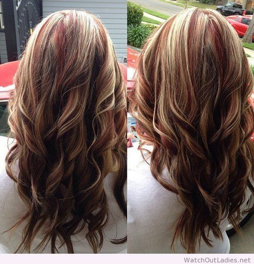 Best 25 blonde with red highlights ideas on pinterest blonde red highlights with blonde and brown lowlights on imgfave pmusecretfo Choice Image
