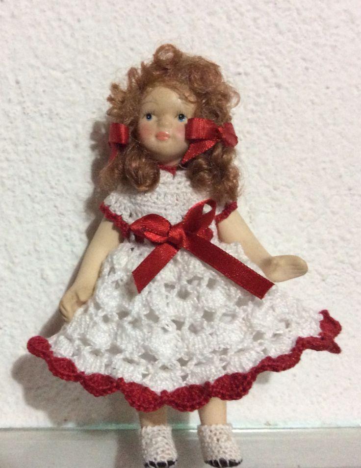 Vestido para muñeca en crochet