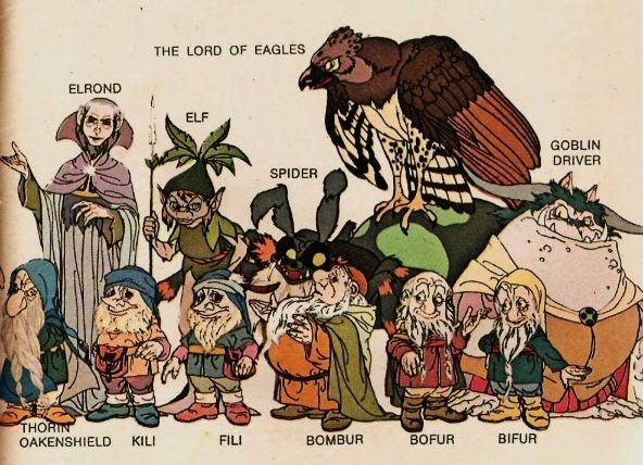 The Hobbit (1977) -- The Lord of Eagles, Elrond, Wood Elf ...
