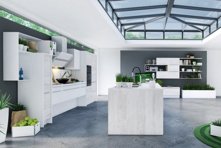 A central kitchen island is the quintessential element to attract attention in your modern kitchen. It proves functional as a kitchen with a center island presents many advantages: a lot of storage space, a large body of work and above all a more involvement of