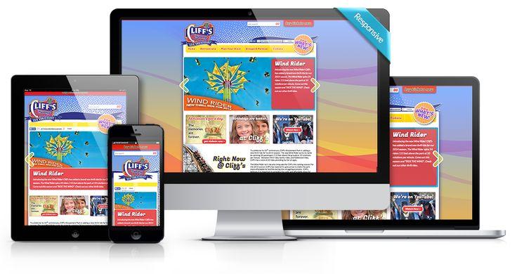 Anything Graphic - Custom, Responsive Website Development - Cliff's Amusement Park - @anythinggraphic