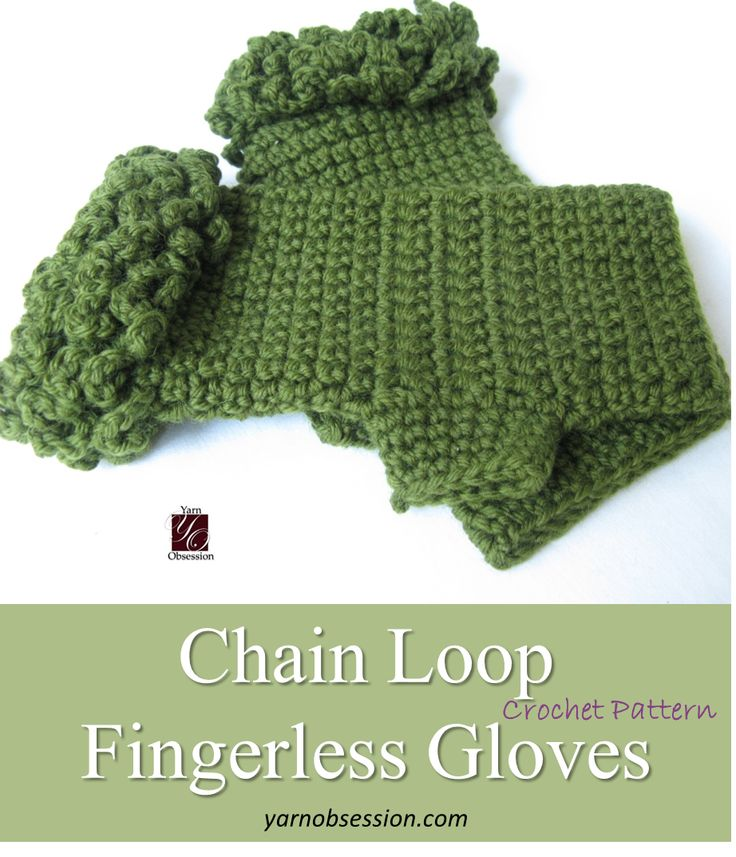 Perfect! Check out this free crochet pattern of chain loop fingerless gloves! Easy, stylish and warm, what else do you need?
