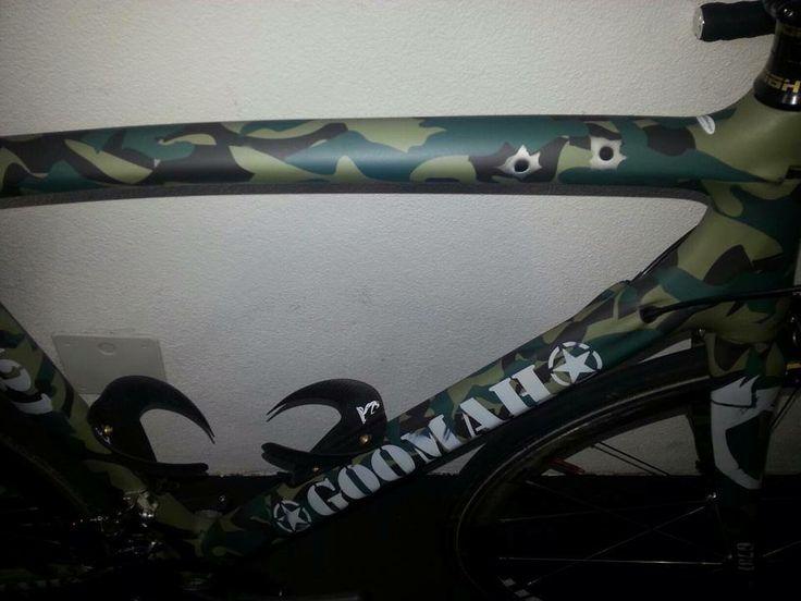 CUSTOM PAINT GOOMAH G731 SWISS ARMY  #Goomah #roadbike #cycling #procycling
