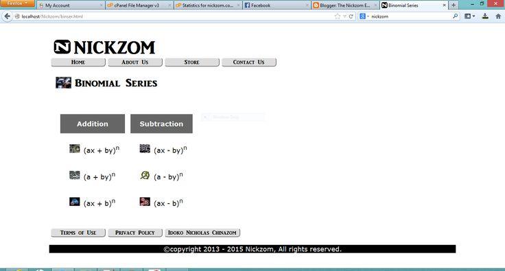 The Nickzom Empire: Nickzom Solves Binomial Series Problems With Steps...