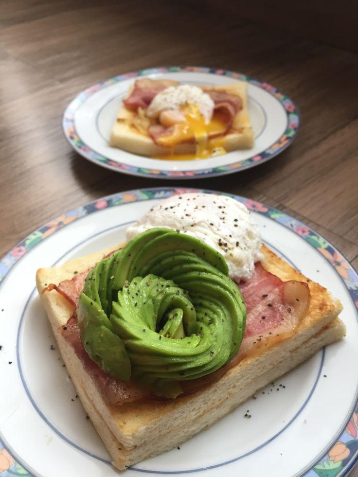 avocado rose on toast