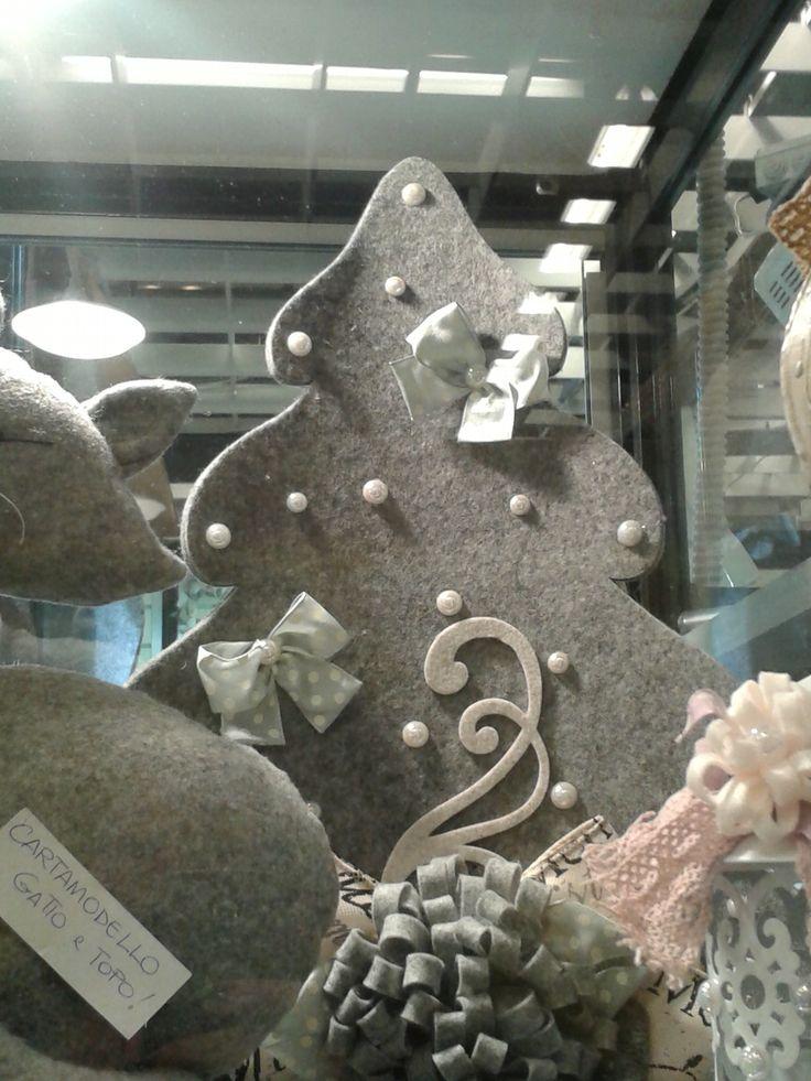 Albero di Natale in feltro spesso versione 3D