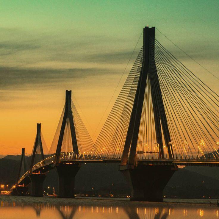 Throwback 1# #greece #patra #patras #rio #bridge #instsgreece #sky #sunset…
