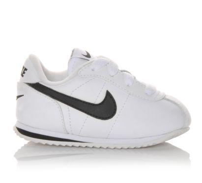 Nike Infant Cortez Leather White/Black |  Shoe Carnival