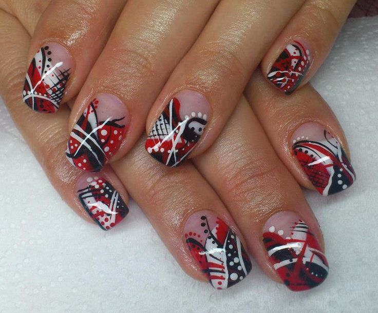 Nail Design With Red Nail Polish - http://www.mycutenails.xyz/nail-design-with-red-nail-polish.html
