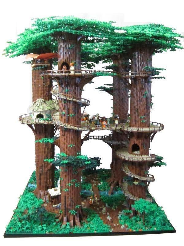 This LEGO 'Star Wars' Ewok village is big enough for an actual Ewok -