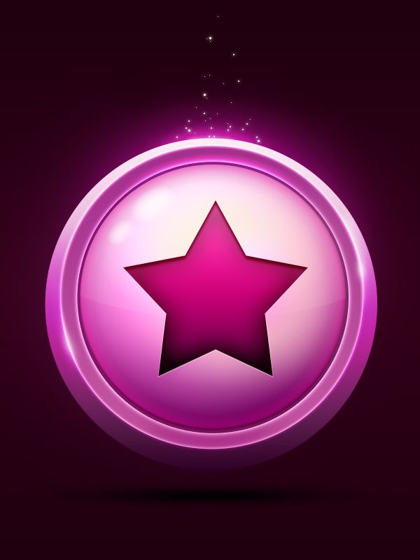 Star icon on Behance