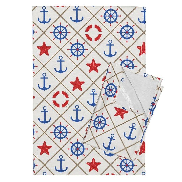 Орпингтон чайных полотенец с изображением морских . по fuzzyfox | Roostery Home Decor
