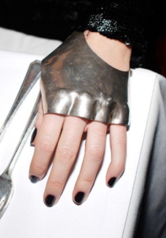 // metal motorcycle gloves. http://www.creativeboysclub.com/ http://www.creativeboysclub.com/wall/creative #waelcyrge
