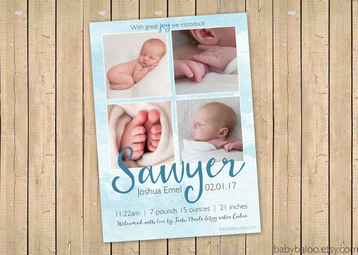 227 best Modern Birth Announcements images – Baby Girl Announcements Pinterest