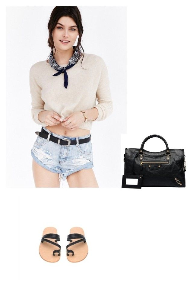 """Casual chic Friday in Kito1981 sandals and One Teaspoon denim"" by kito1981 on Polyvore featuring One Teaspoon and Balenciaga"