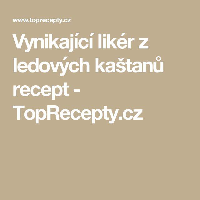 Vynikající likér z ledových kaštanů recept - TopRecepty.cz